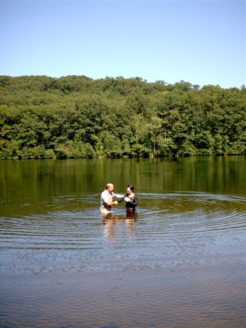 Pastor and Mandy: Baptism photo courtesy of Melita Matzko.