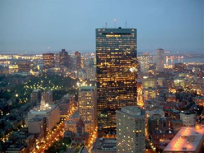 Boston's Hancock Building at Dusk; photo courtesy Melita Matzko
