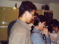 Fei and his wife Juan, Peng and Wendy's housemates, who've been coming to the Sunday evening studies since Wendy and Peng first invited them a couple of months ago.