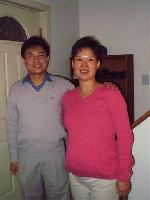 Linda and her husband, Gang ('Gong'), who've been coming when they are not on business trips. Linda is expecting their first baby, Kathy, which is due right around the New Year. They love to ask questions during Bible study, which is fantastic. They're very sweet people.